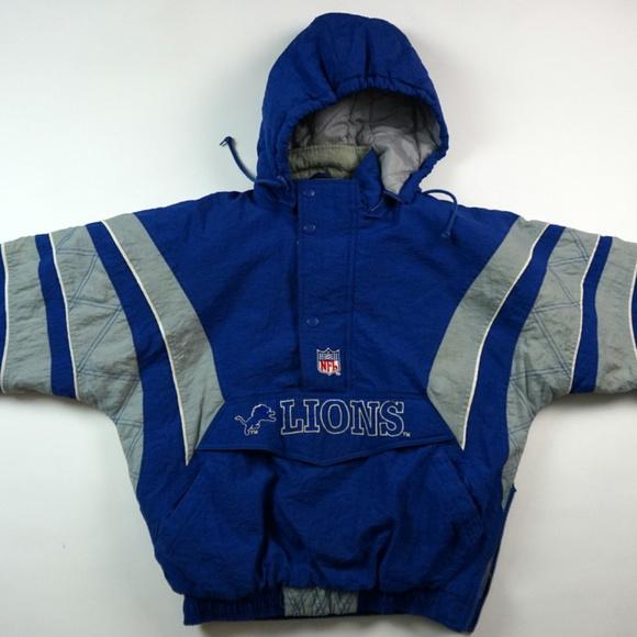 Discount STARTER Jackets & Coats | Vintage Detroit Lions Pullover Jacket Rare  hot sale